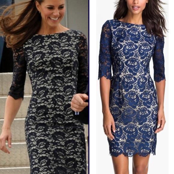 3b71df60ff Eliza J Dresses & Skirts - Eliza J Embroidered Lace Overlay Sheath Dress 12